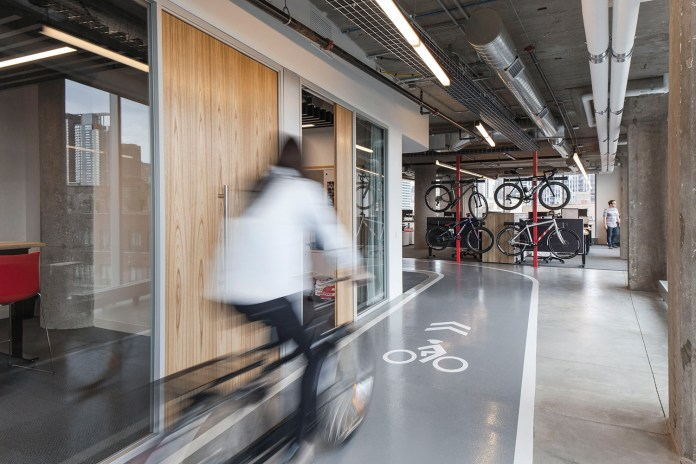 The World's Most Bike-Friendly Office Has an Indoor Bike Path