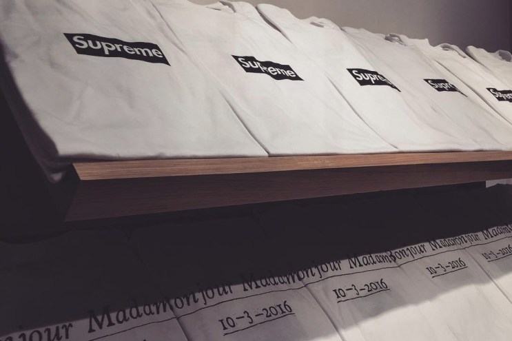 Supreme Unveils Its Paris Box Logo Tee at New Store Opening