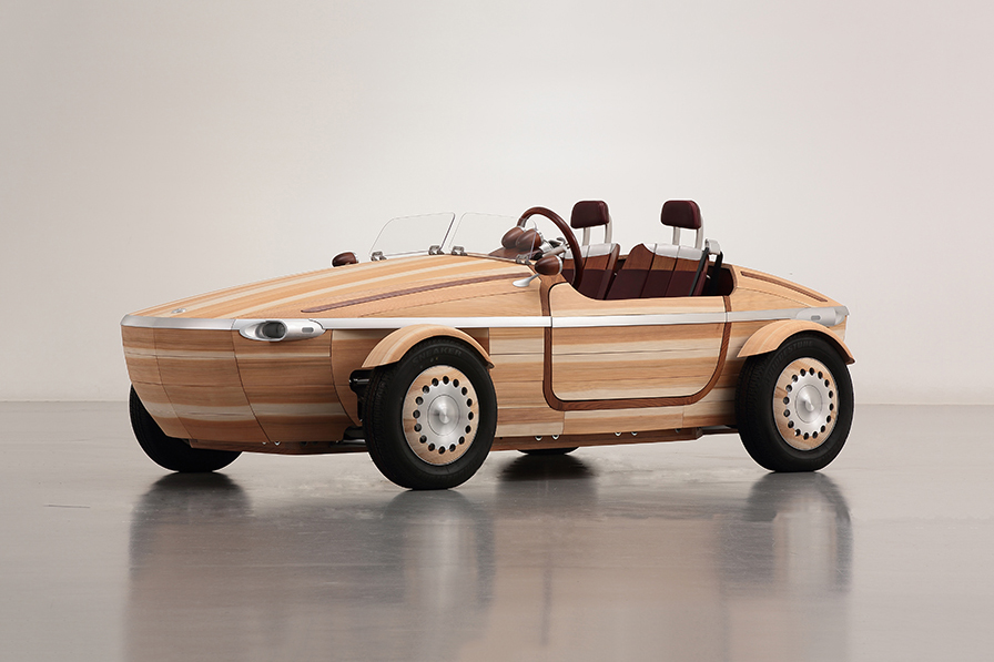 toyota 39 s setsuna concept vehicle is built entirely from japanese wood. Black Bedroom Furniture Sets. Home Design Ideas