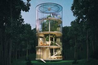 This Tubular Glass House Wraps Around a Single Tree
