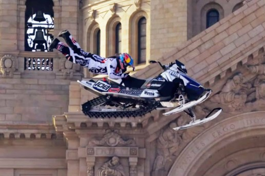 Watch Extreme Snowmobiler Levi LaVallee Shred Wintry St. Paul, Minnesota