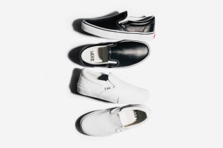 The Vans Classic Slip-On Gets the Vault Treatment in Black & White Leather