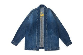 "visvim Unveils ""Damaged"" Kimono-Inspired Denim Jacket"