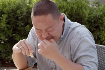 Watch Eddie Huang Eat Tuna Sperm in This Deleted Scene From 'HUANG'S WORLD'