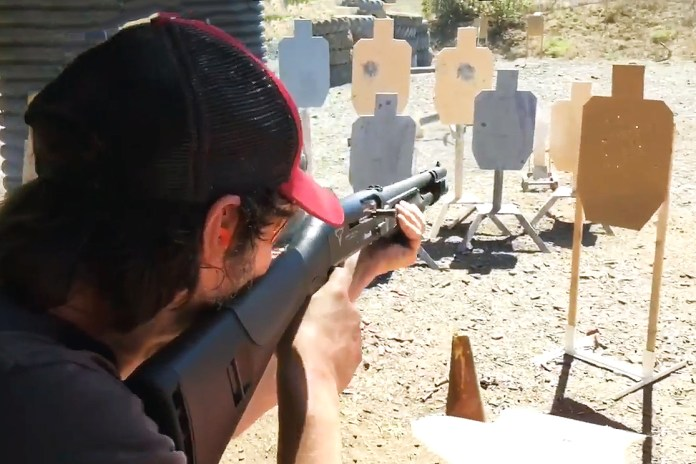 Watch Keanu Reeves Go Wild at a Tactical Shooting Range