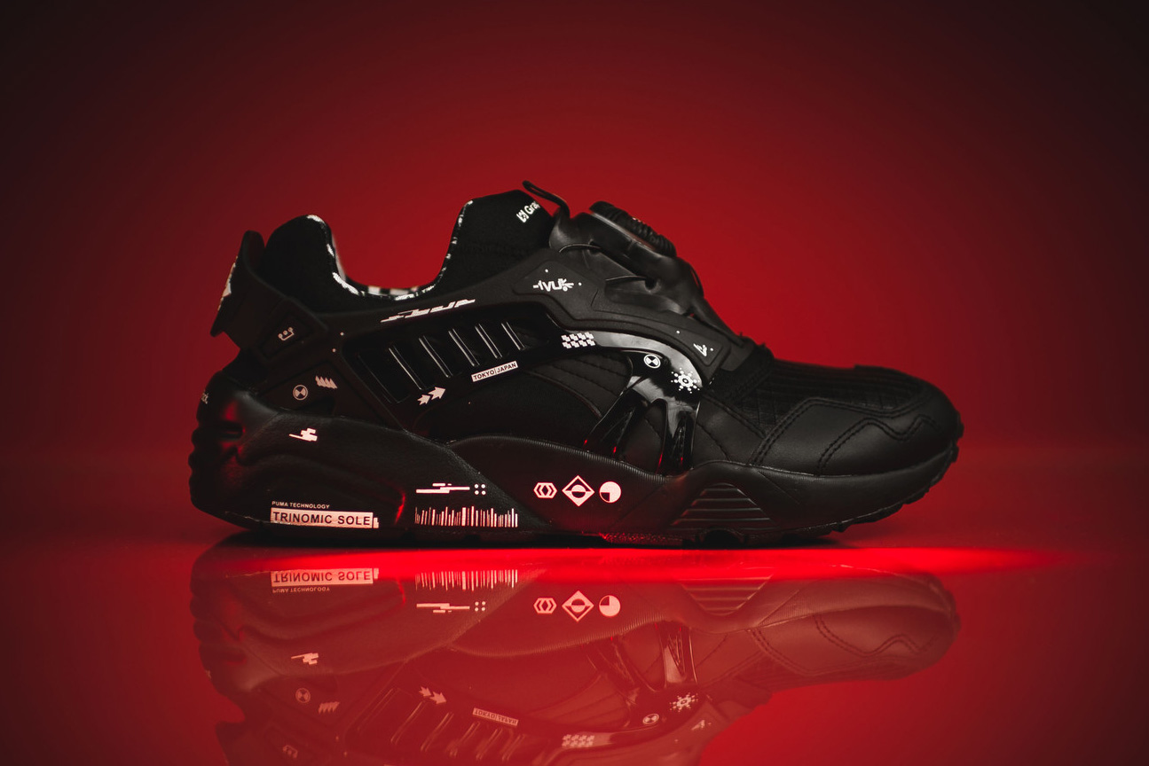 a closer look at the graphersrock x puma disc blaze. Black Bedroom Furniture Sets. Home Design Ideas