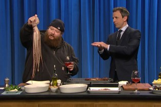 Action Bronson Joins 'Late Night With Seth Meyers' for Some Octopus-Grilling 101