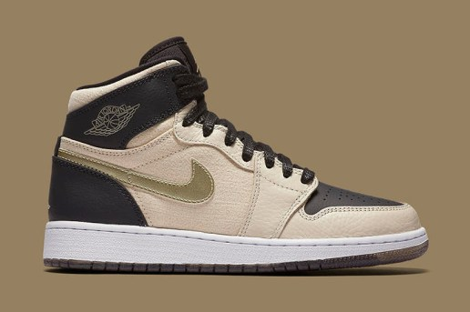 "Air Jordan 1 Retro High Premium ""Pearl White/Metallic Gold"""