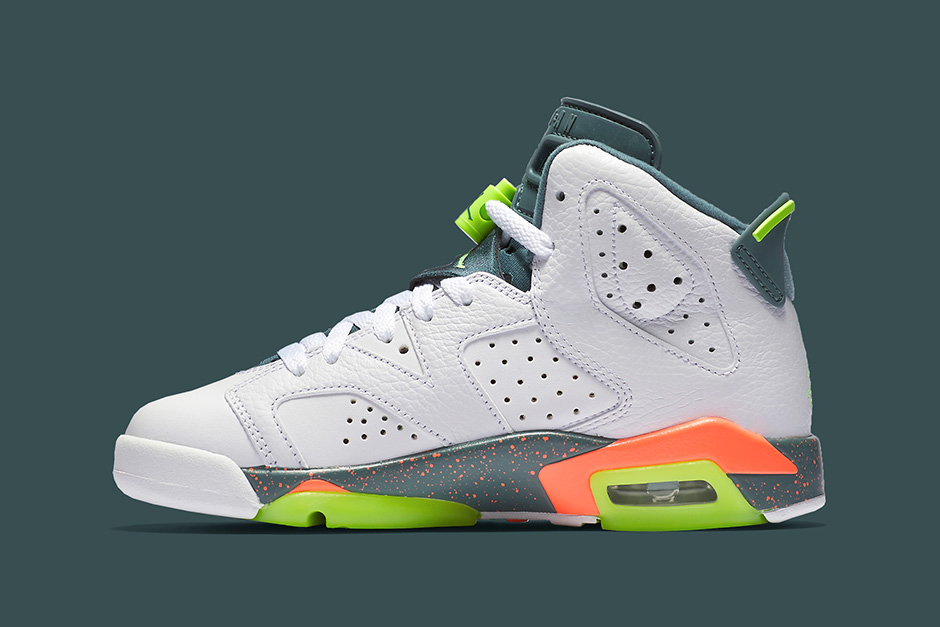 "#hypebeastkids: Air Jordan 6 GS ""Ghost Green/Hasta/Bright Mango"""
