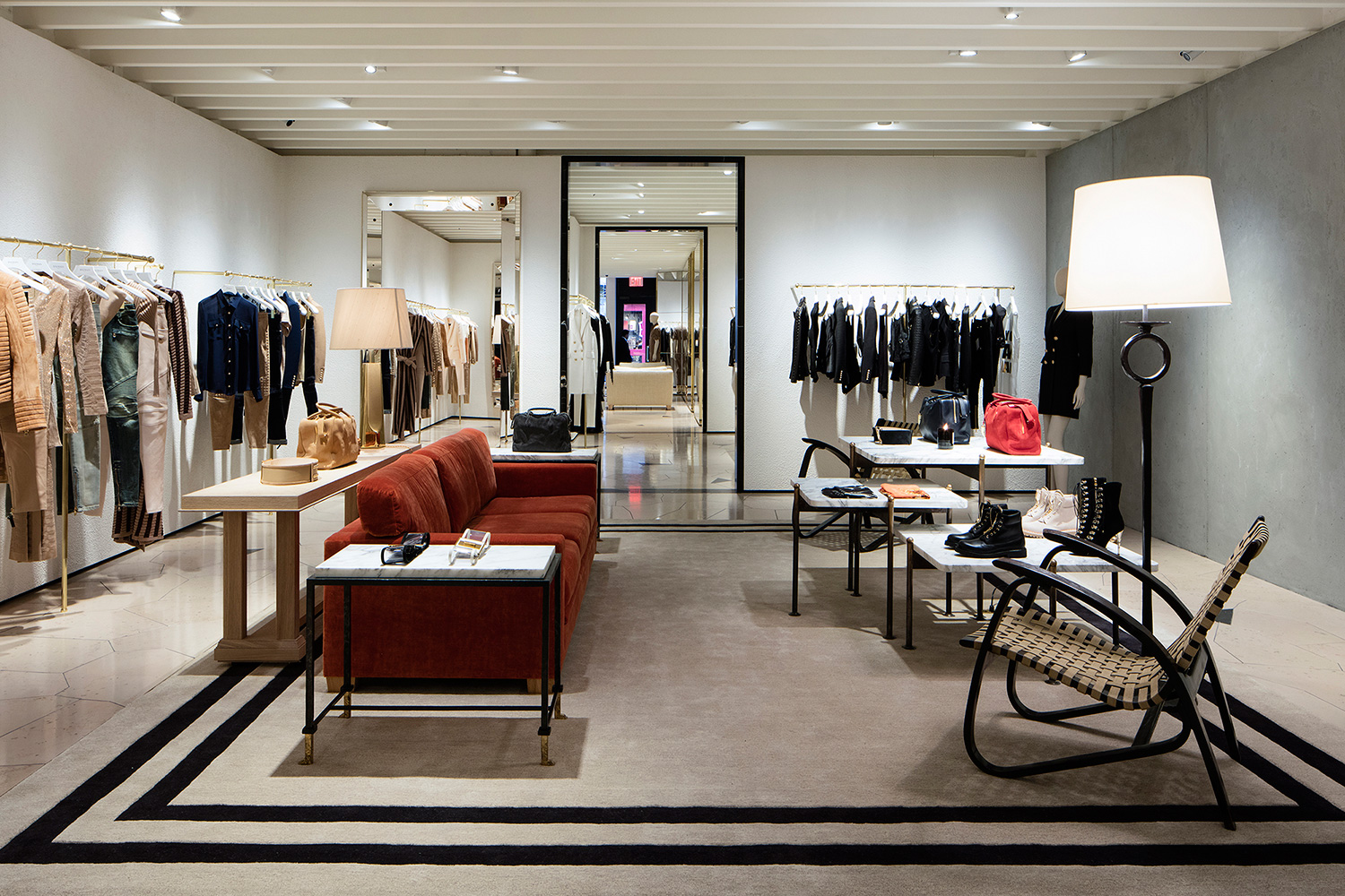 Find blazers, along with jumpsuits, pants and other ready-to-wear items for men and women at the 2,square-foot space.