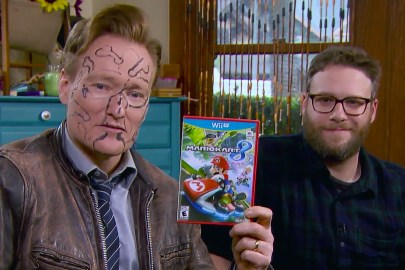Seth Rogen and Zac Efron Destroy Conan O'Brien in 'Mario Kart 8' With Frat-Life Consequences