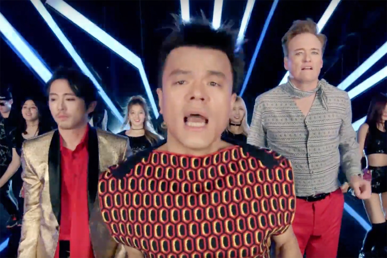 Conan O'Brien & Steven Yeun Feature in K-Pop Star J.Y. Park's Latest Music Video