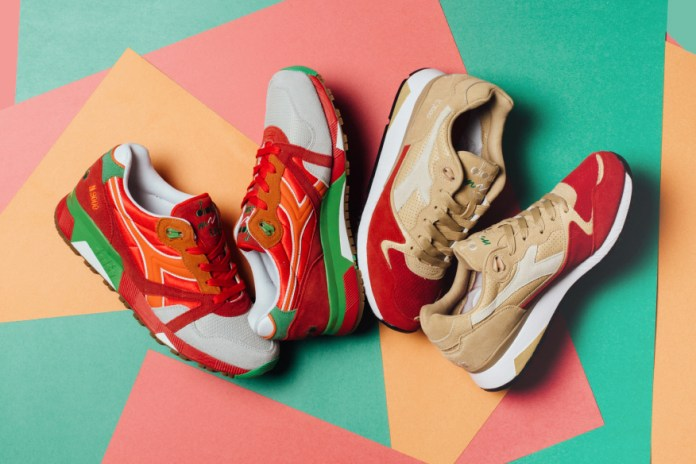 """Diadora Releases the N9000 """"Poppy Red"""" and V7000 """"Golden Straw"""""""