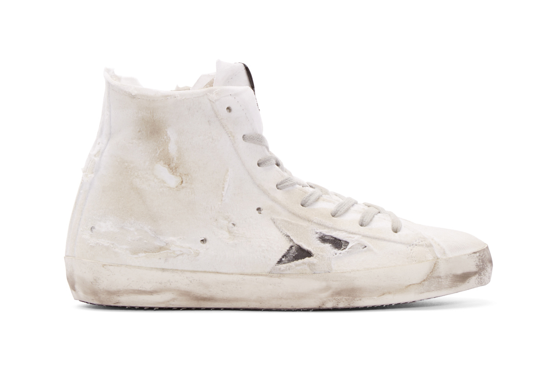 golden goose white francy high top sneakers. Black Bedroom Furniture Sets. Home Design Ideas