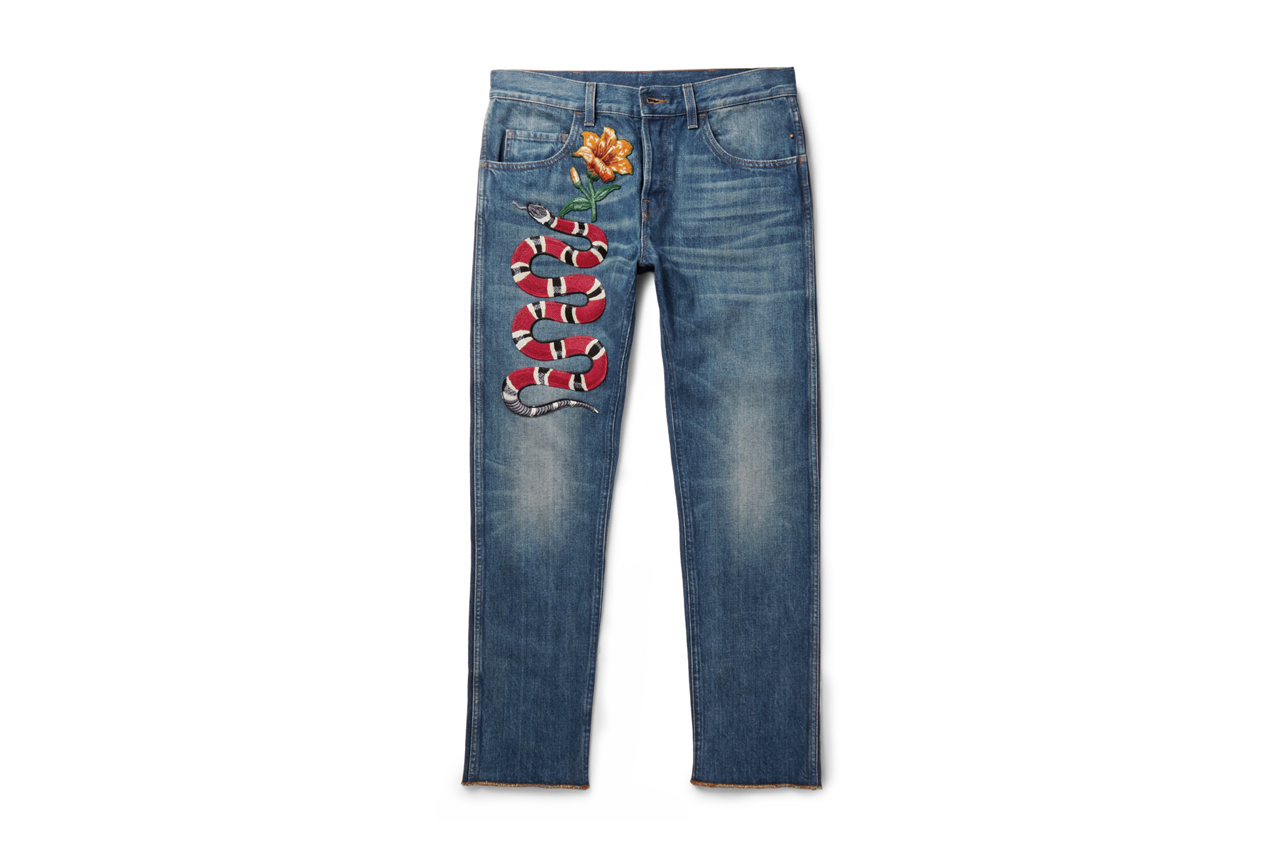 Gucci Goes Retro With These Embroidered Jeans