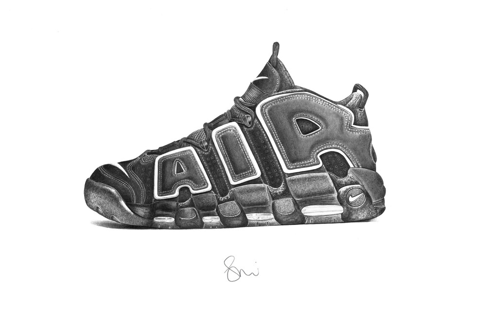Hyperrealistic Sneaker Illustrations By Steph F Morris