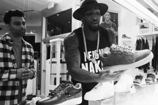 Dallas Cowboy Dez Bryant Goes Sneaker Shopping in Miami