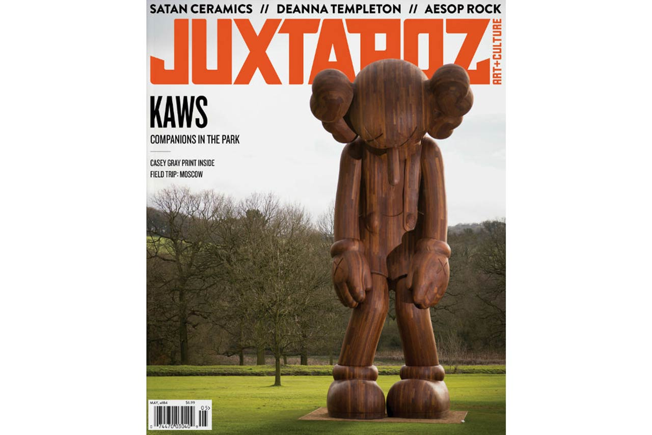 KAWS Covers the May 2016 Issue of 'Juxtapoz' Magazine