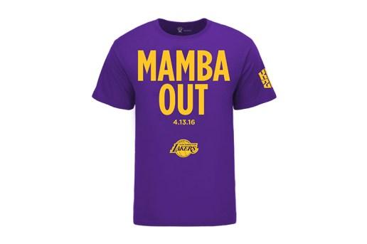 """Kobe Bryant Is Already Selling """"Mamba Out"""" T-Shirts"""