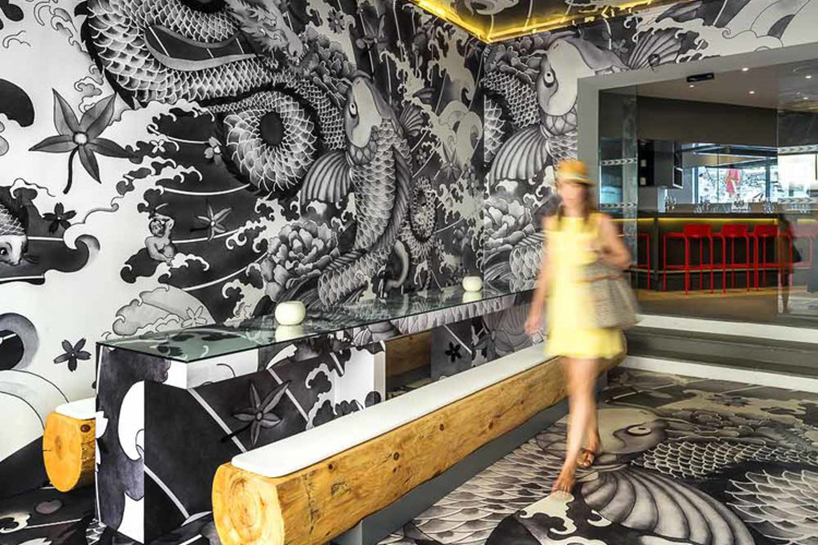 This Japanese Restaurant in France Is Decorated With Yakuza Tattoo Motifs