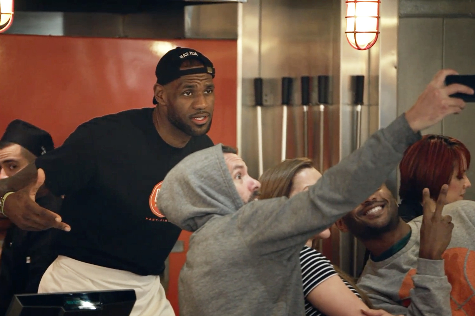 LeBron James Becomes Newest Employee at Blaze Pizza in Pasadena, California