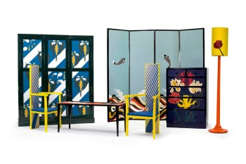 Loewe Exhibits Graphic Leather Furniture for Salone del Mobile