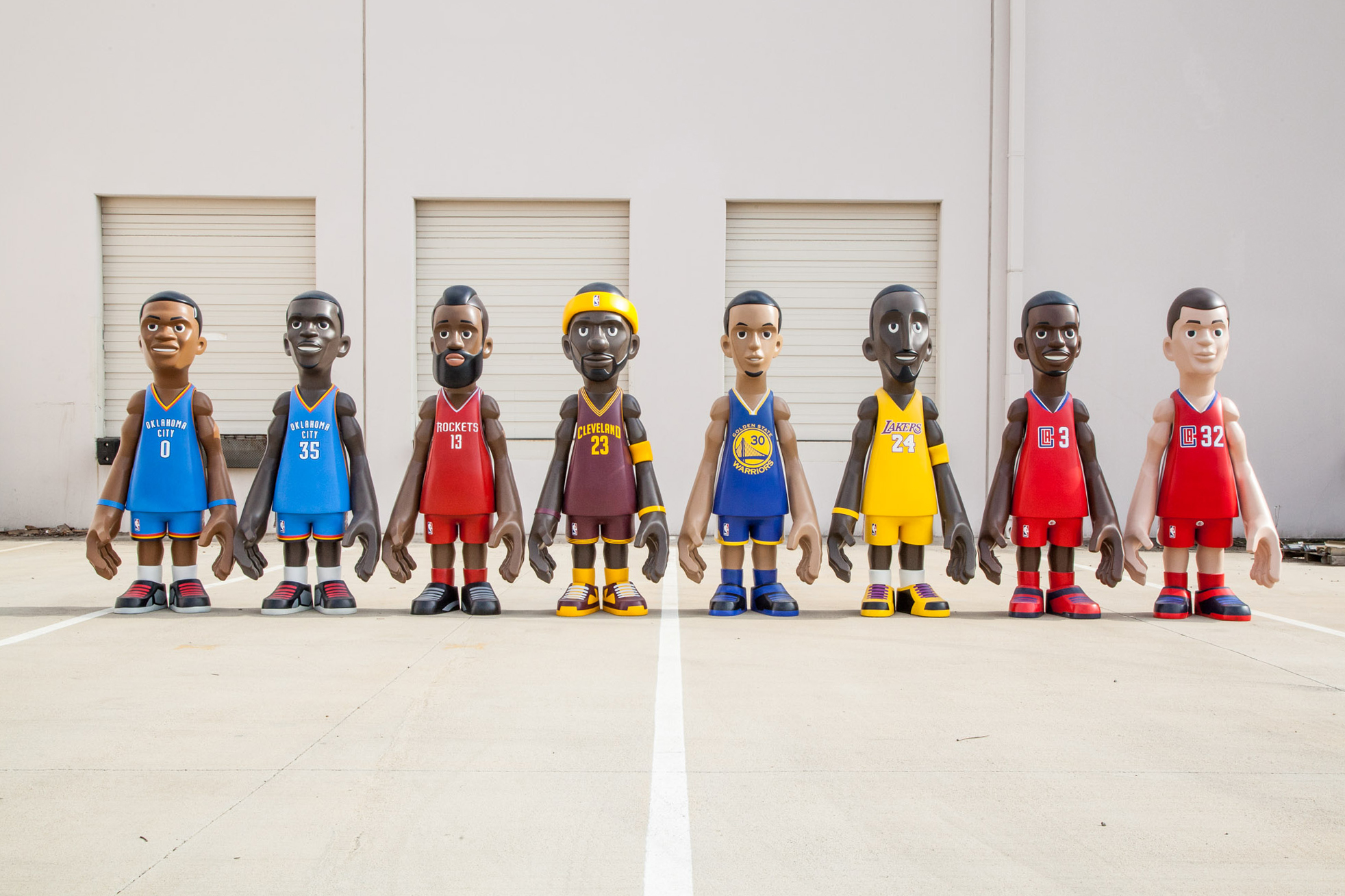 Mindstyle x Cool Rain x NBA 7-Foot Player Collectibles