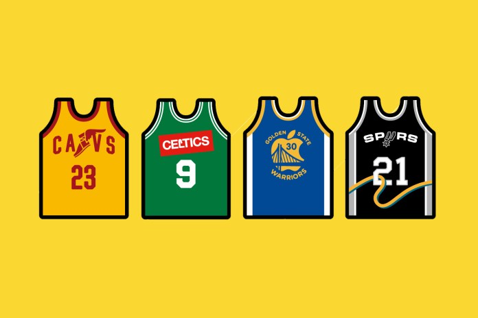 An Illustrated Imagining of NBA Jerseys With Advertisements