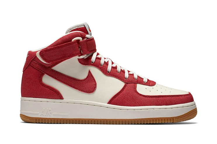 Nike Applies Red Denim to the Air Force 1 Mid