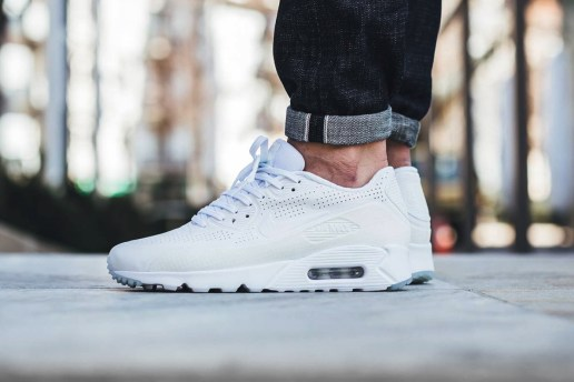 The Nike Air Max 90 Ultra Moire Gets a Crisp All-White Makeover