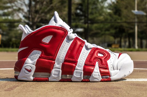 Nike's Air More Uptempo Debuts in Gym Red