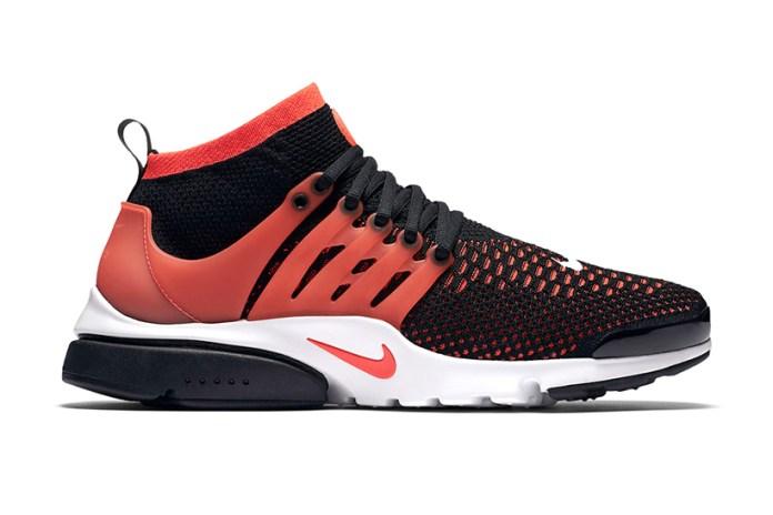 Nike Air Presto Ultra Flyknit Lit up in Bright Crimson
