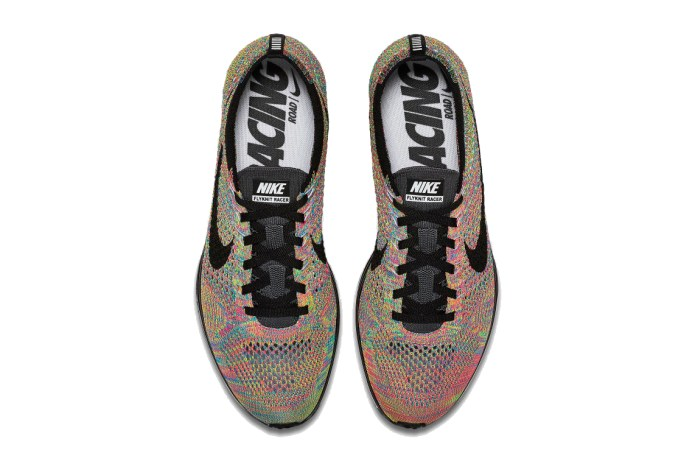 """2016's Nike Flyknit Racer """"Multicolor"""" Will Indeed Feature a Grey Tongue"""
