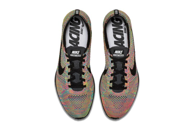 "2016's Nike Flyknit Racer ""Multicolor"" Will Indeed Feature a Grey Tongue"