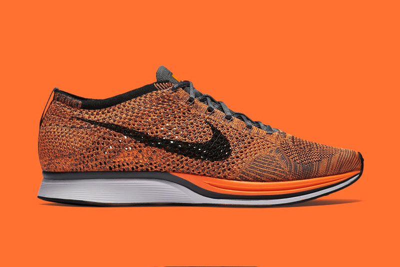 Nike's Flyknit Racer in Orange and Grey Is Looking to Take Over the Spring/Summer Season