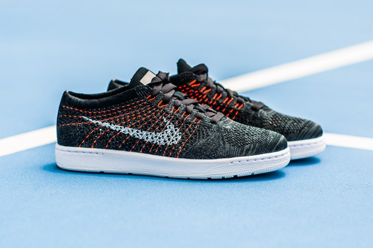 "Nike Drops a Tennis Classic Ultra Flyknit ""Black/Anthracite"" with Vibrant Details"