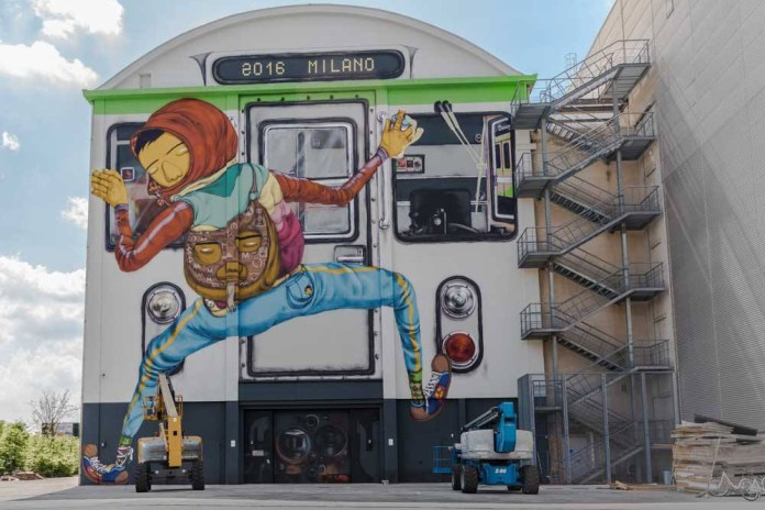 Os Gemeos Makes Milanese Debut With a Train-Centric Mural