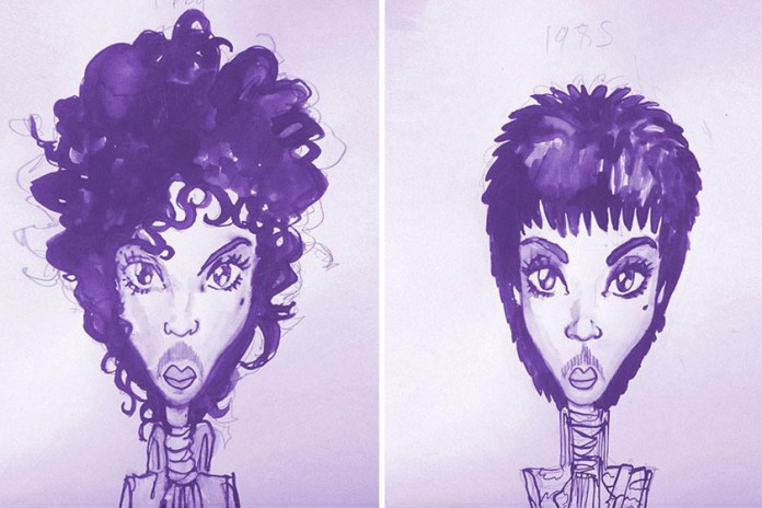 This Illustrated Timeline Chronicles 36 of Prince's Distinctive Hairstyles