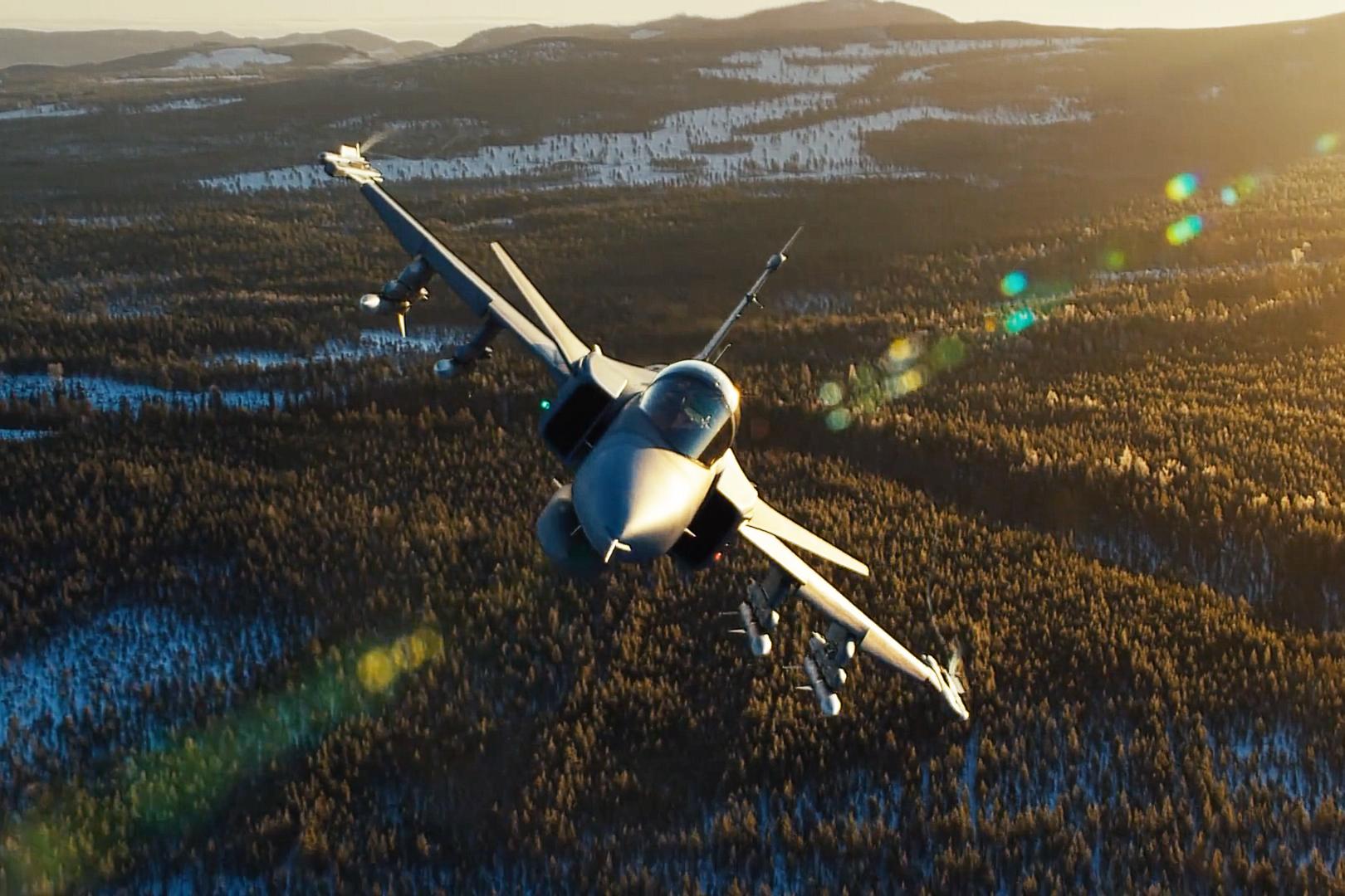 This Rock-Solid Gripen Jet Footage Was Shot at Breakneck Speeds