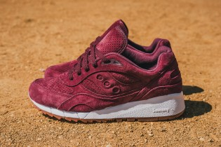 "Packer Shoes x Saucony Shadow 6000 ""Burgundy Suede"""