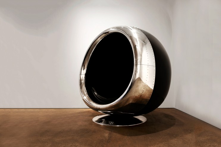 This 737 Jet Engine Was Made Into a Chair Fit for a Supervillain