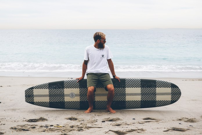 Surf on Wool With the Woolrich x Almond Surfboards Collection