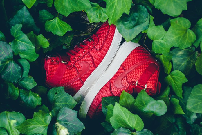 "Nike Decks the Woven Air Force 1 High out in ""Gym Red"""