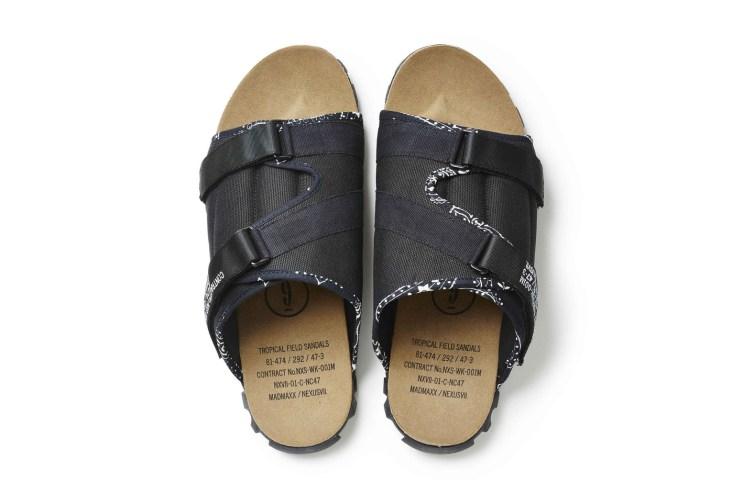 NEXUSVII's MADMAXX Line Sews Vintage Bandanas Into Its Tropical Field Sandals