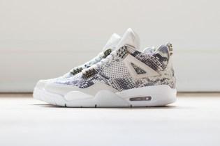 """A Closer Look at the Air Jordan 4 Premium """"Snakeskin"""""""