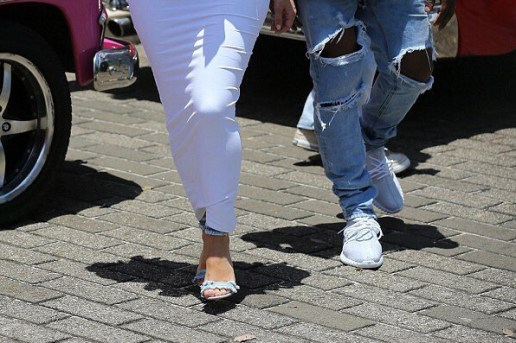 Kanye West Spotted Wearing All White Yeezy Boost 350 Colorway In Cuba