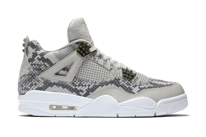 The Craziest Air Jordan 4 Yet Is Covered in Snakeskin