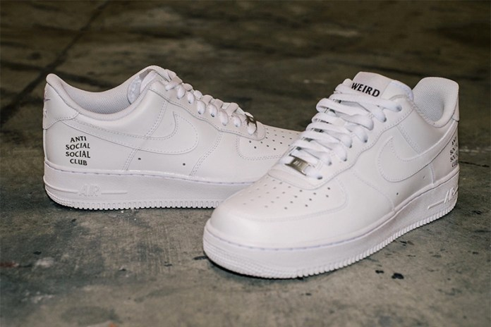 Anti Social Social Club Shows off a Branded Pair of Nike Air Force 1s