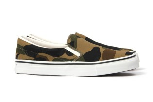 A Bathing Ape Unveils the 1st Camo Slip-On for the Summer