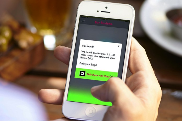 Bar Roulette Will Route Your Uber to a Random Bar